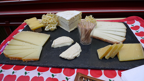Truffled Brillat Savarin, frilly Tête de Moine, nutty Ossau-Irraty, creamy Rove de Garrigues, and two different ages of Comté