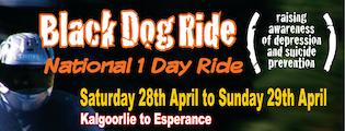Black Dog Ride, National 1 Day Ride, Kalgoorlie Event