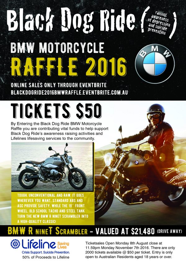 Black Dog Ride BMW Raffle 2016
