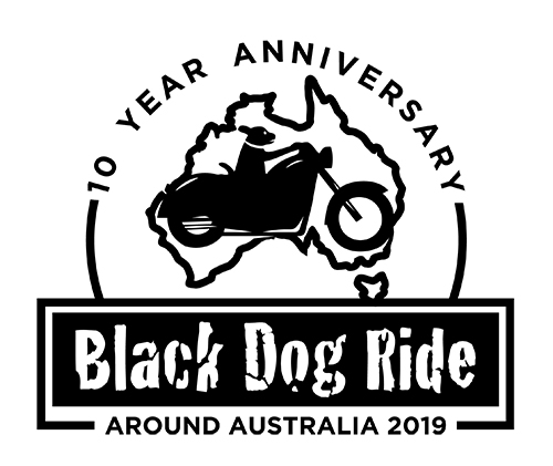Black Dog Ride Around Australia 2019 Logo