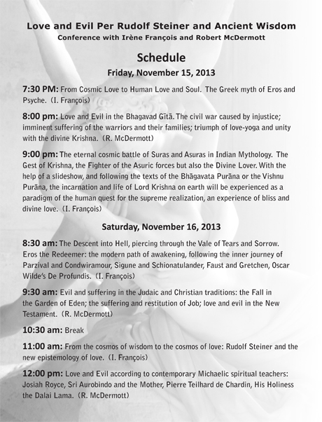 Love & Evil Conference Schedule