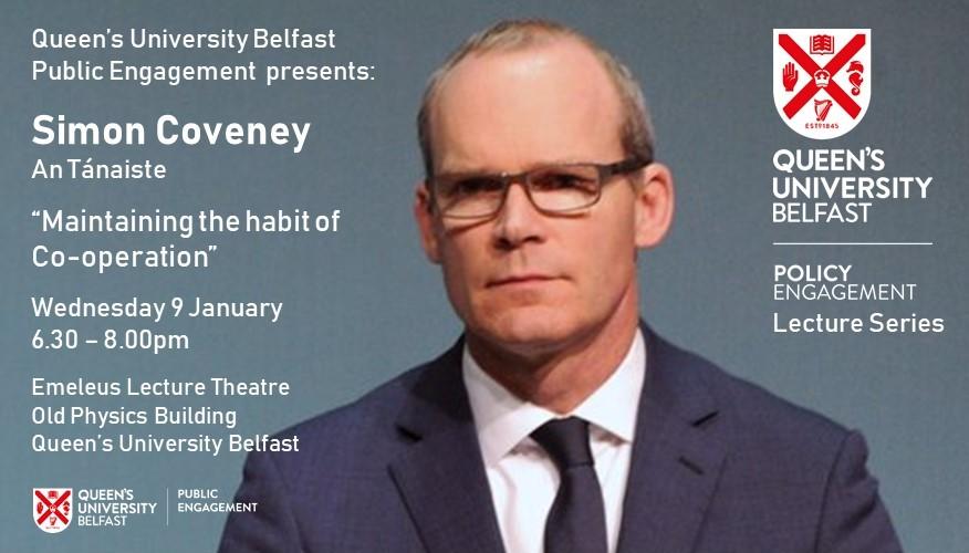 Simon Coveney event slide
