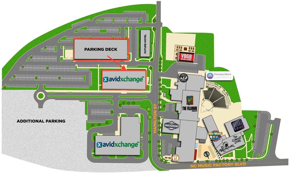 AvidXchange Parking Map