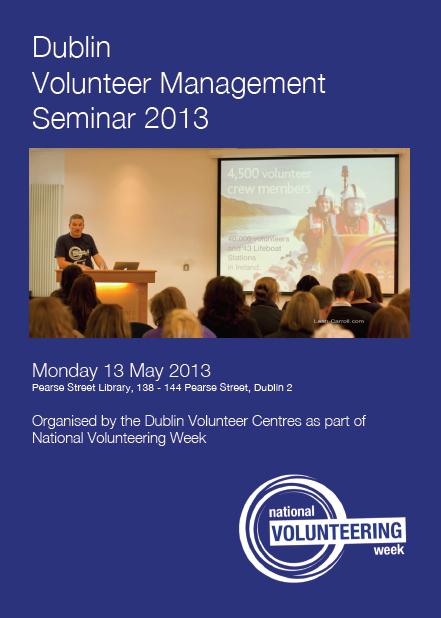 Dublin Volunteer Management Seminar 2013
