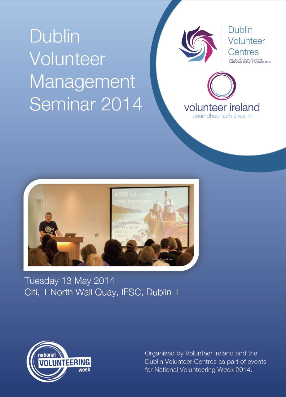 Dublin Volunteer Management Seminar 2014