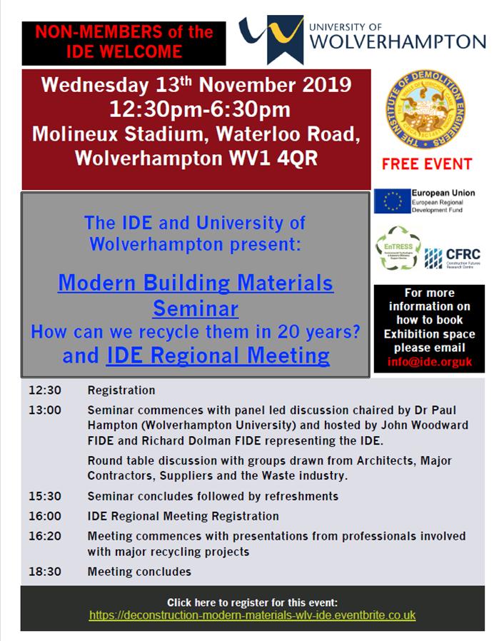 IDE and WLV Regional Seminar Flyer