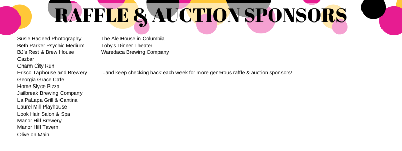 raffle and auction sponsors