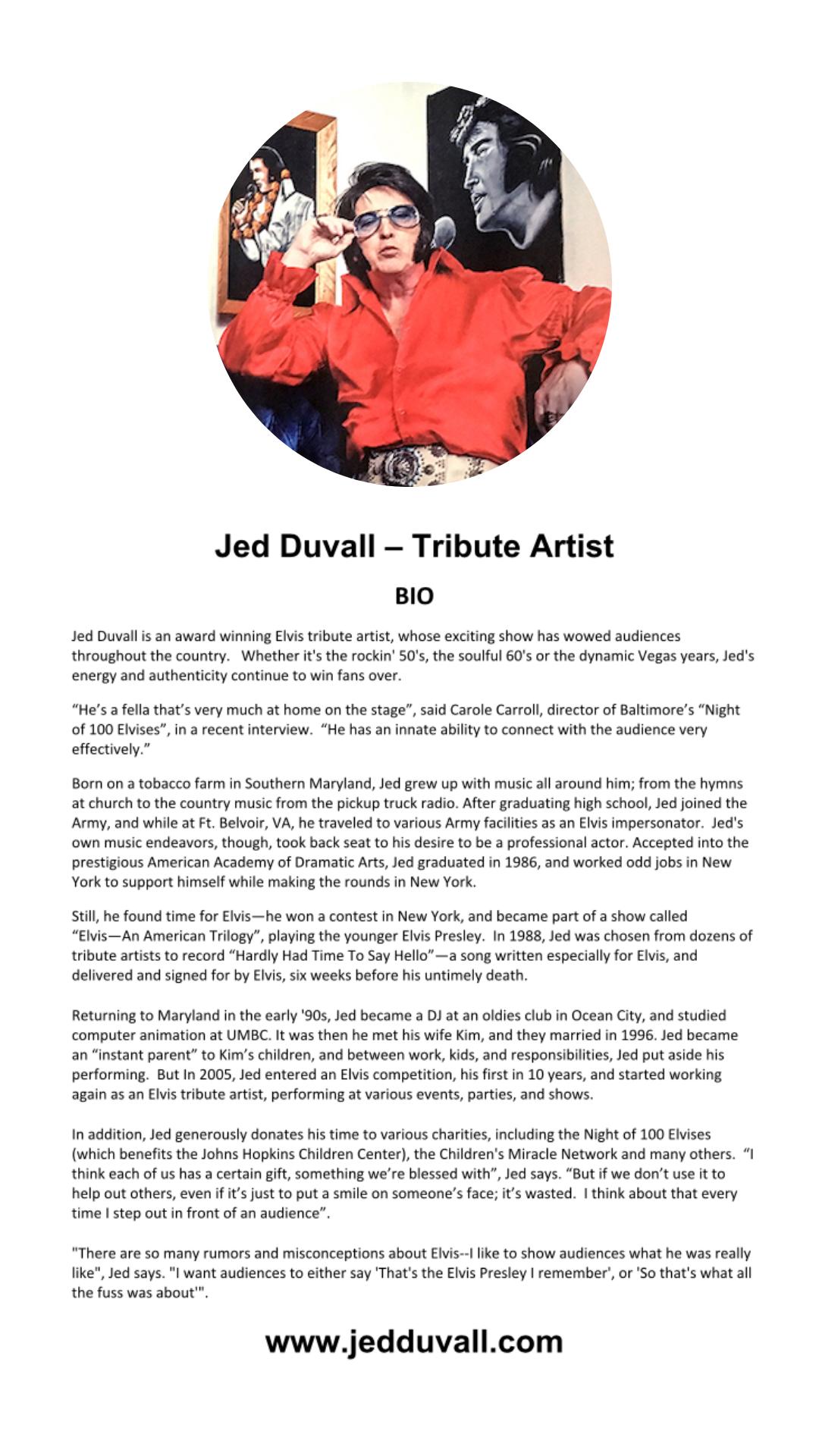 Jed Duvall Bio
