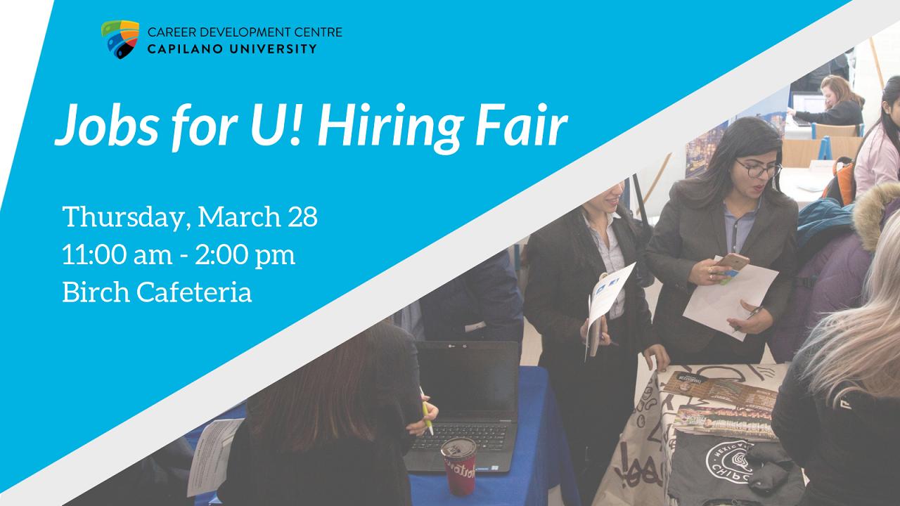 Jobs for U! Hiring Fair