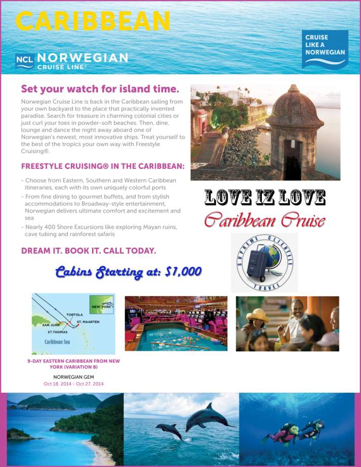 Love Iz Love Caribbean Cruise Flyer