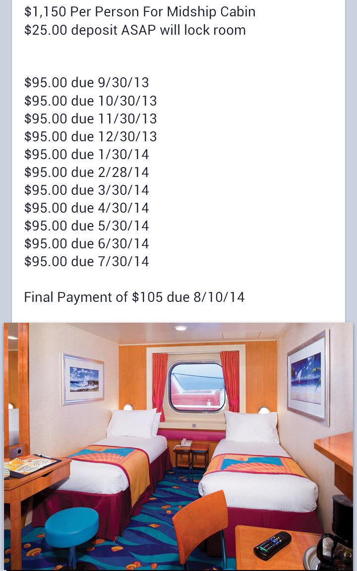 Oceanview Cabin Schedule