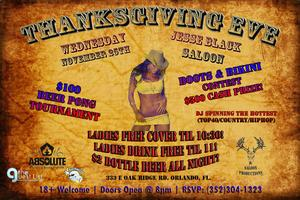 Thanksgiving Eve Party @ Jesse Black Saloon!