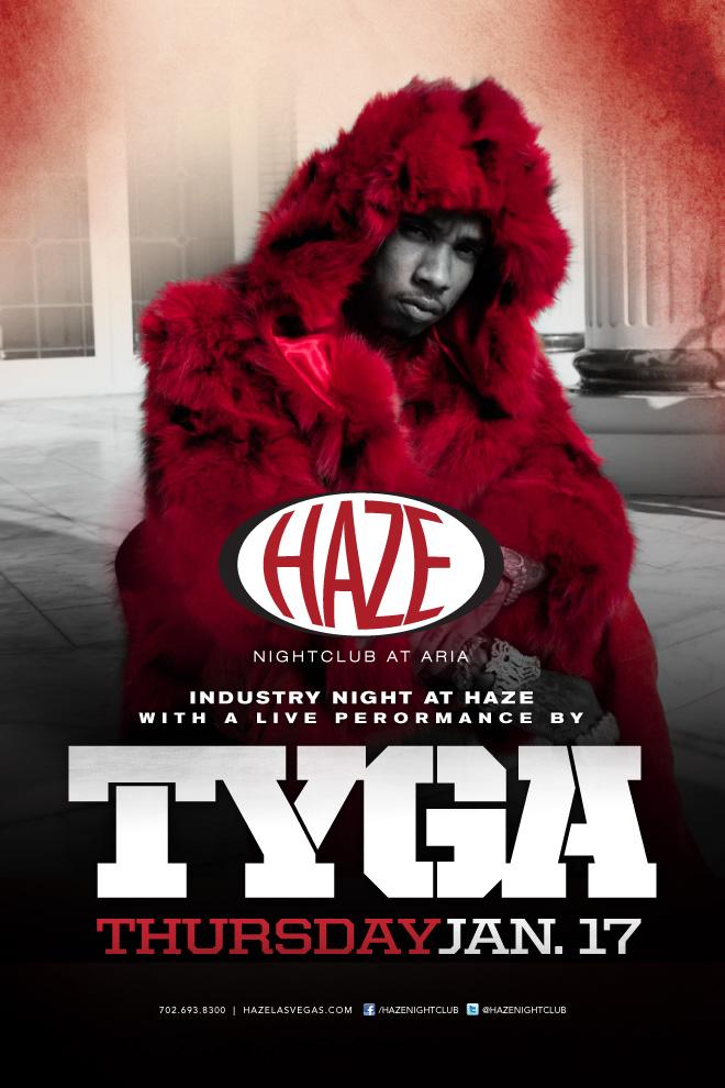 Tyga Performs Live at Haze Nightclub