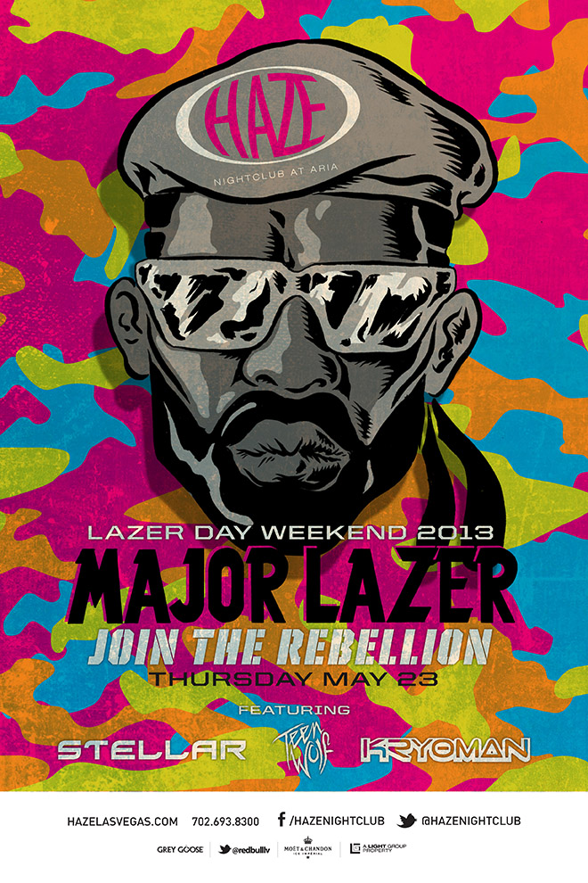 Major Lazer MDW Memorial Day Weekend at HAZE Nightclub in Las Vegas