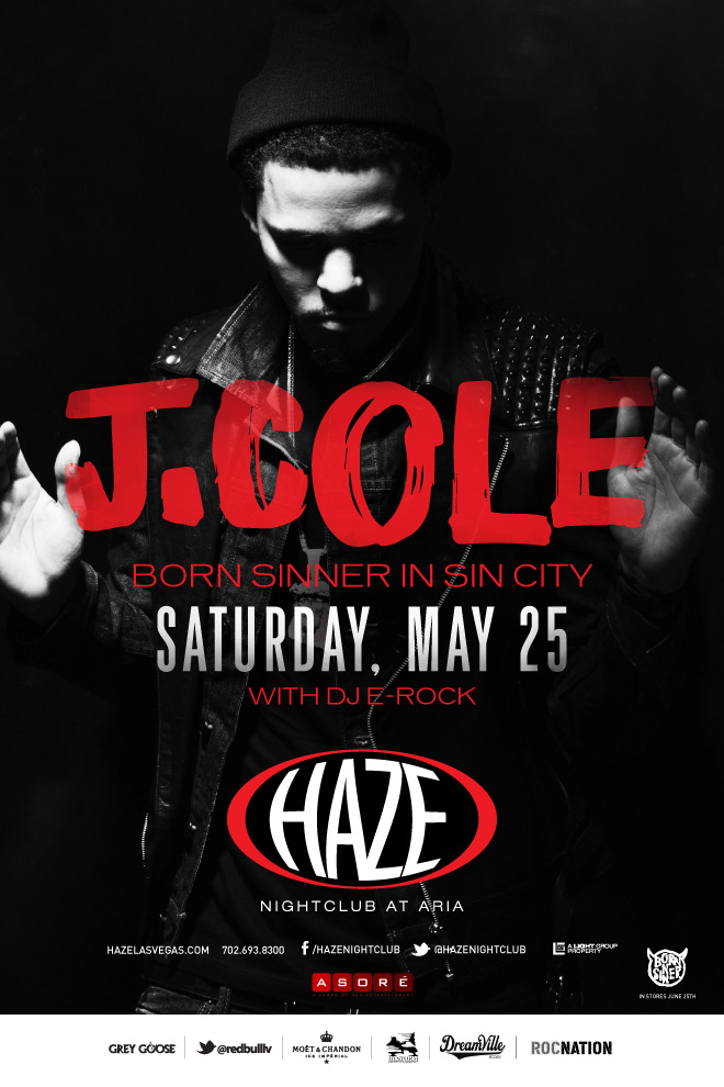 J. Cole Hosts Memorial Day Weekend MDW at HAZE Nightclub in Las Vegas