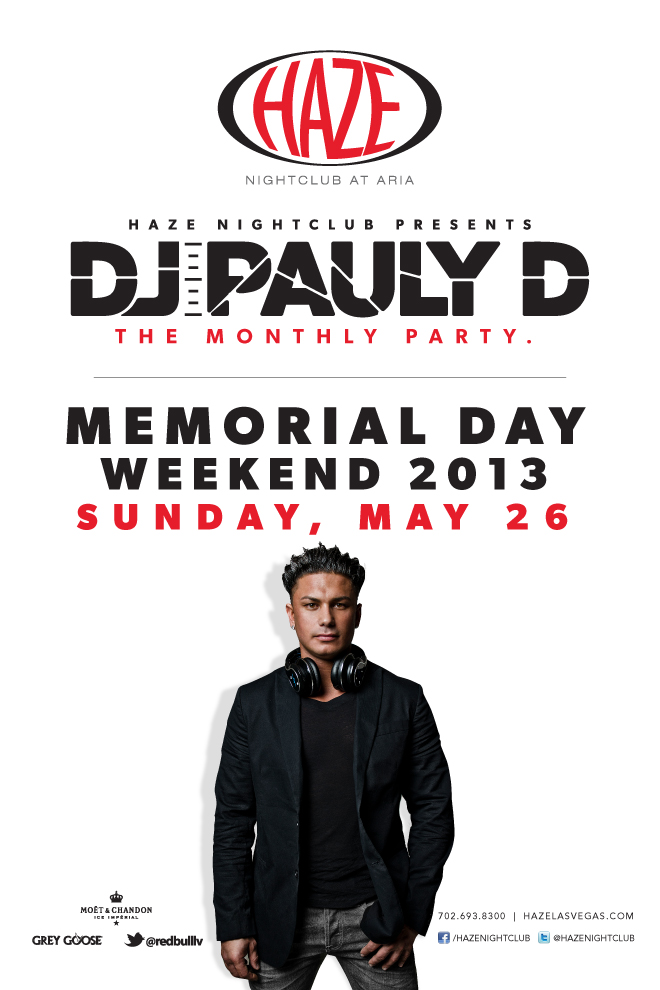 DJ Pauly D Guest DJ Set MDW Memorial Day Weekend at HAZE Nightclub in Las Vegsa