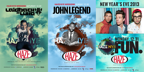HAZE New Years Eve Weekend 2013 in Las Vegas with Laidback Luke, John Legend and FUN