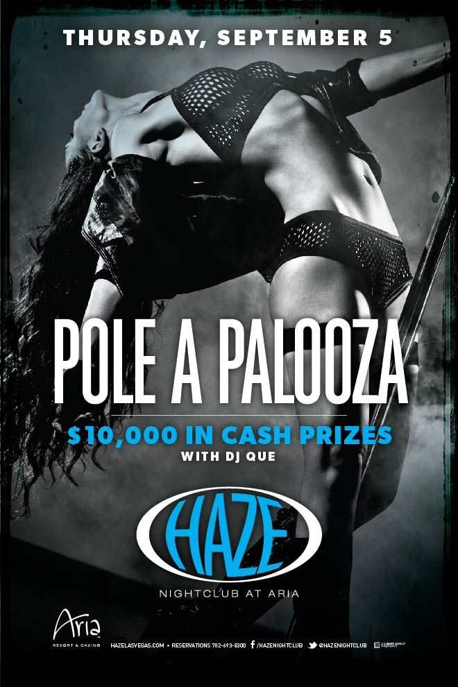 Pole dancing competition in Las Vegas at HAZE Nightclub