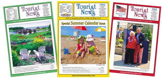 Three Tourist News covers.