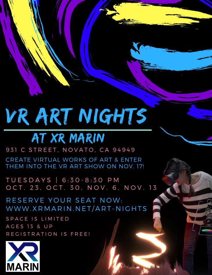 VR Art Nights flyer