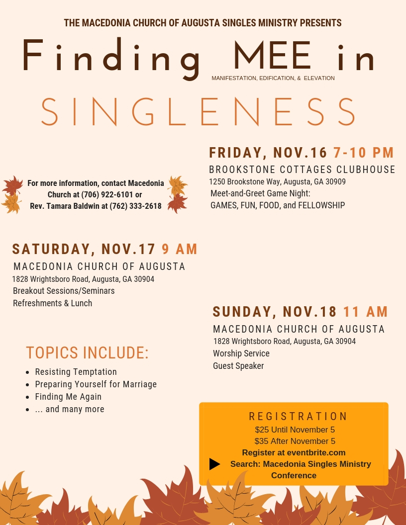 Singles ministry topics