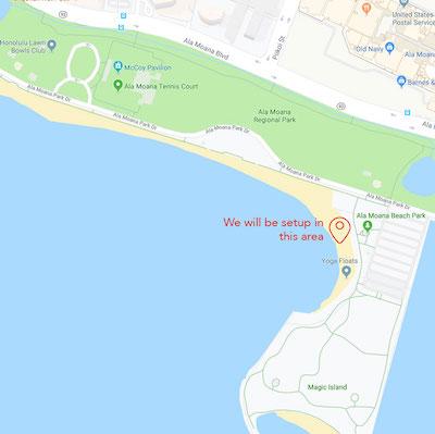 Ala Moana Beach Park Location