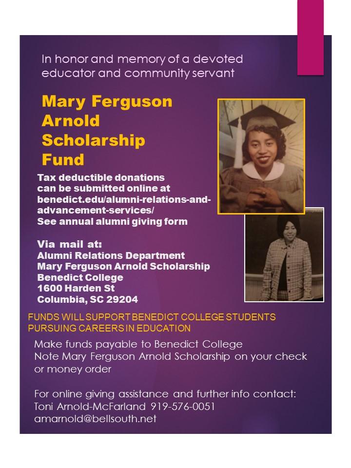 Mary F Arnold Scholarship