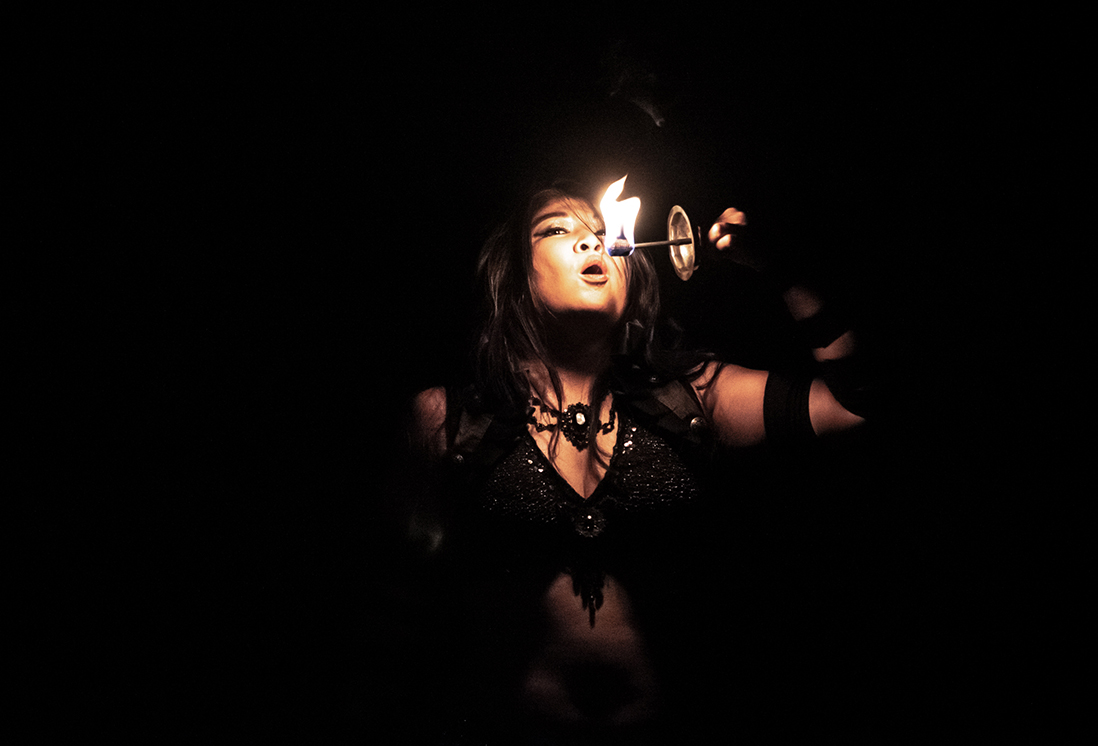 Dawn Xiana Moon with palm torches