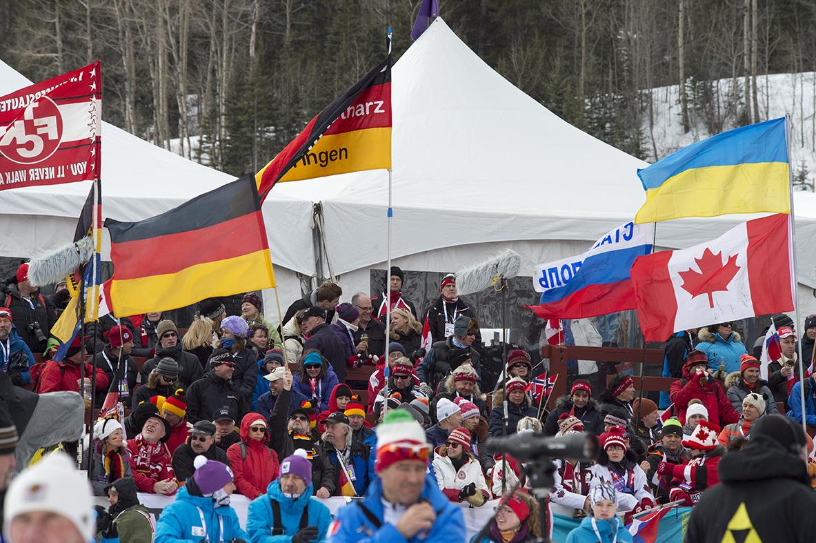 Cheerful spectators enjoying the event