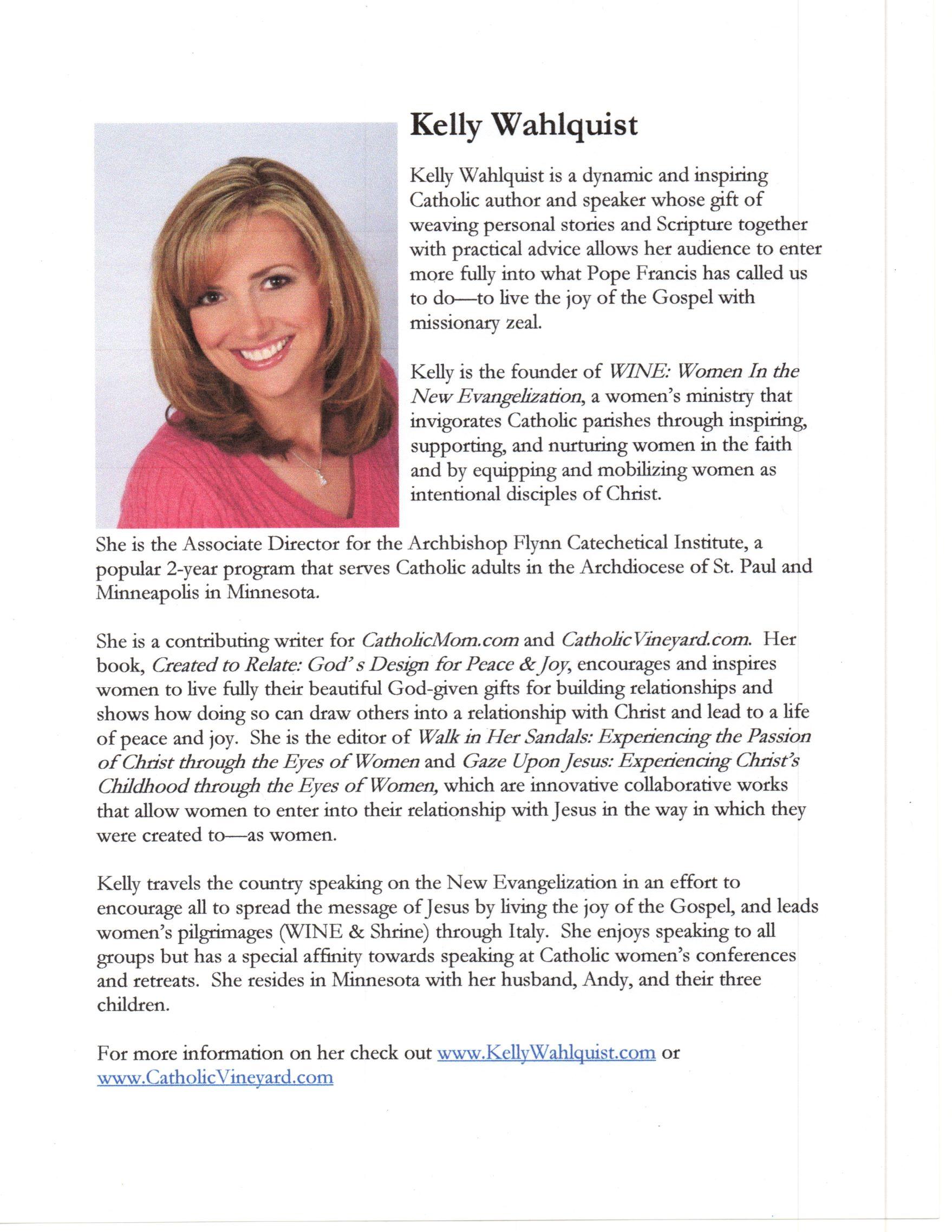 Kelly Wahlquist - Keynote Speaker