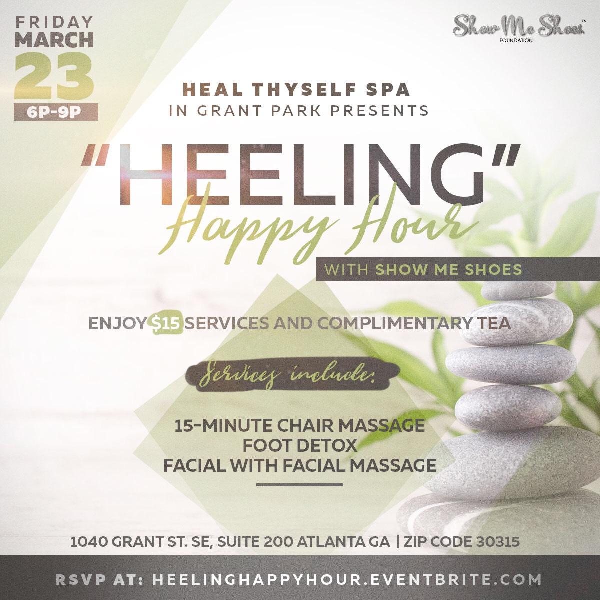 Heeling Happy Hour at Heal Thyself Spa