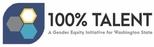 100% Talent logo