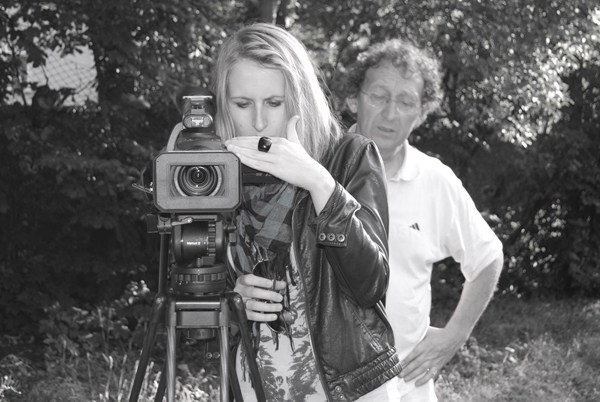 Picture of Faye Hughes behind a camera
