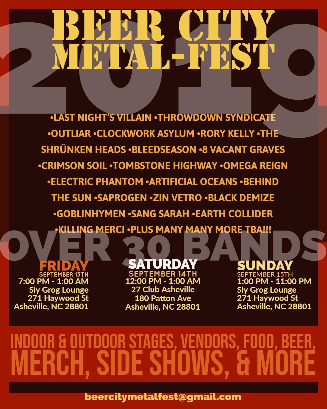 Beer City Metal-Fest 2019 Event Flyer