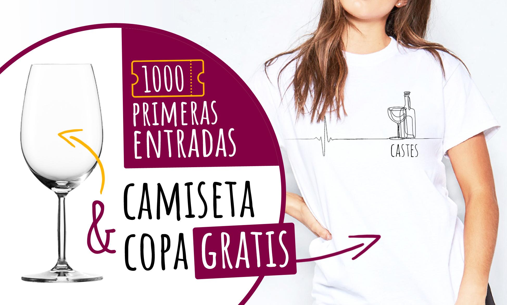 Las 1000 primeras entradas recibiran una camiseta personalizada con el logotipo de castes y una copa del evento totalmente gratis!