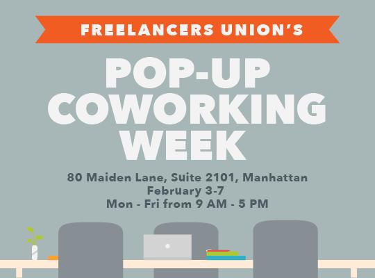 Freelancers Union's Pop-Up Coworking Week