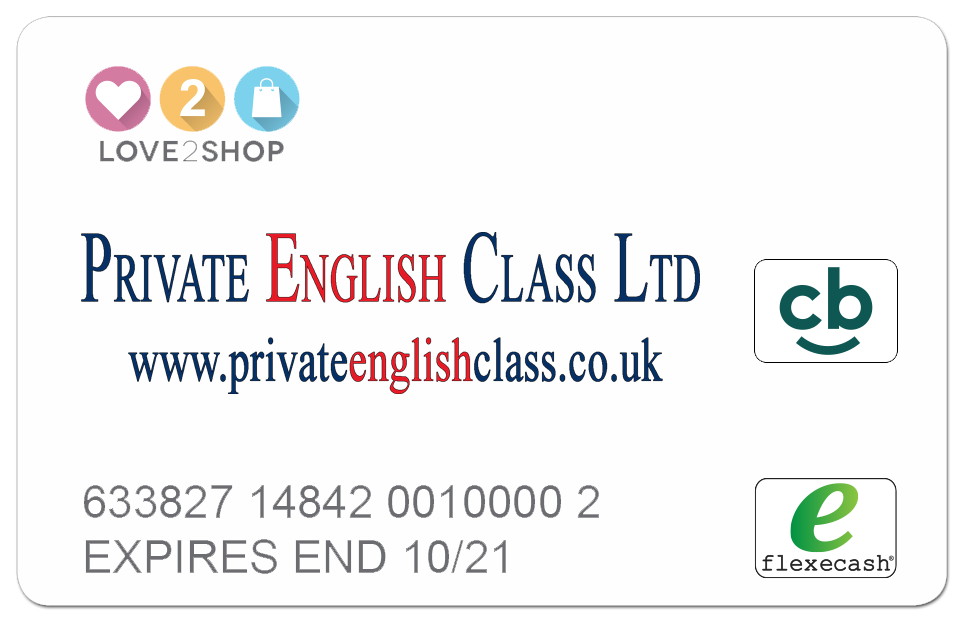 Private English Cards Cashback Cards