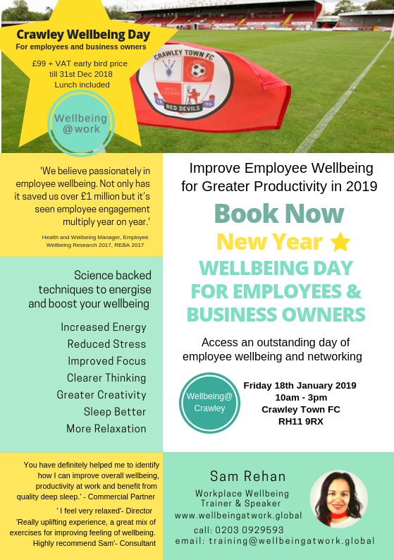 Crawley Wellbeing Day 18 January 2018