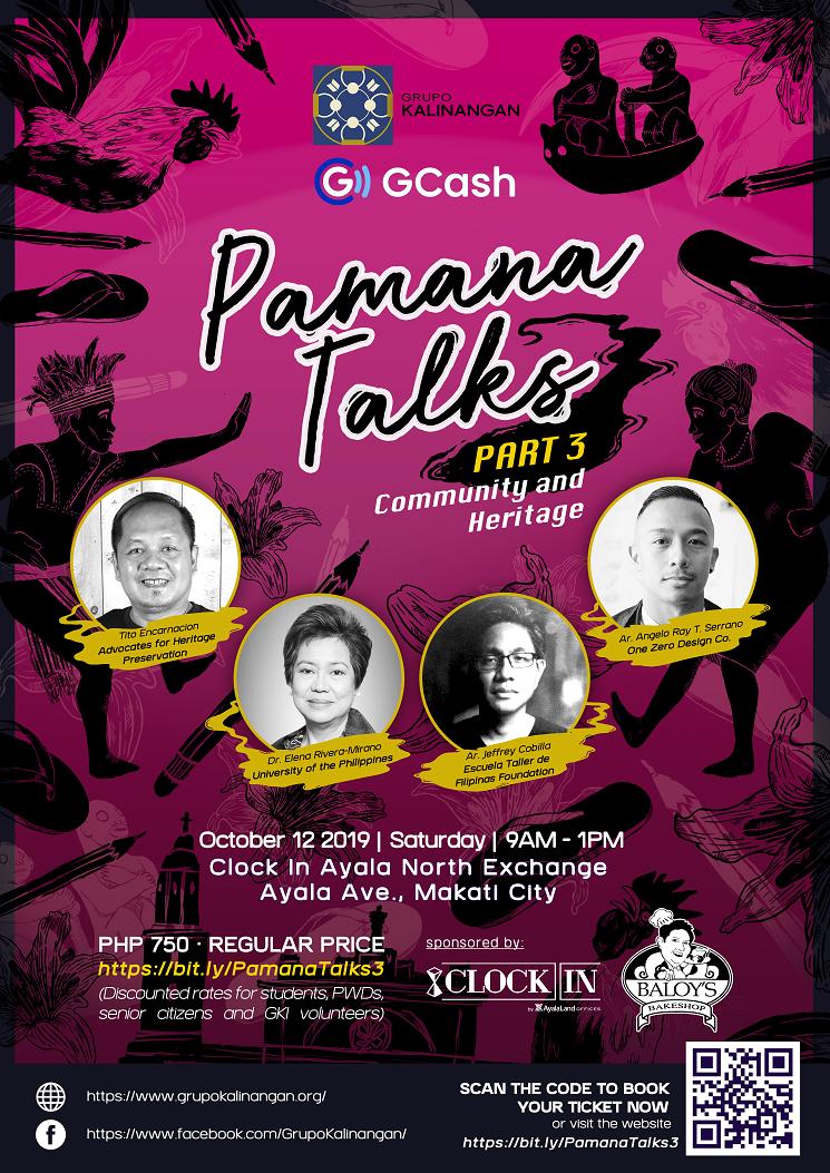 Pamana Talks 3: Community and Heritage