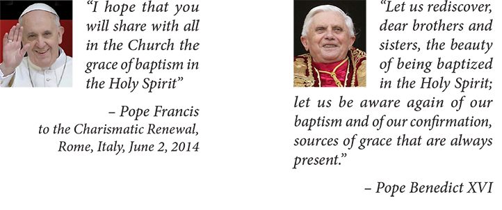 Encouragement from the Popes