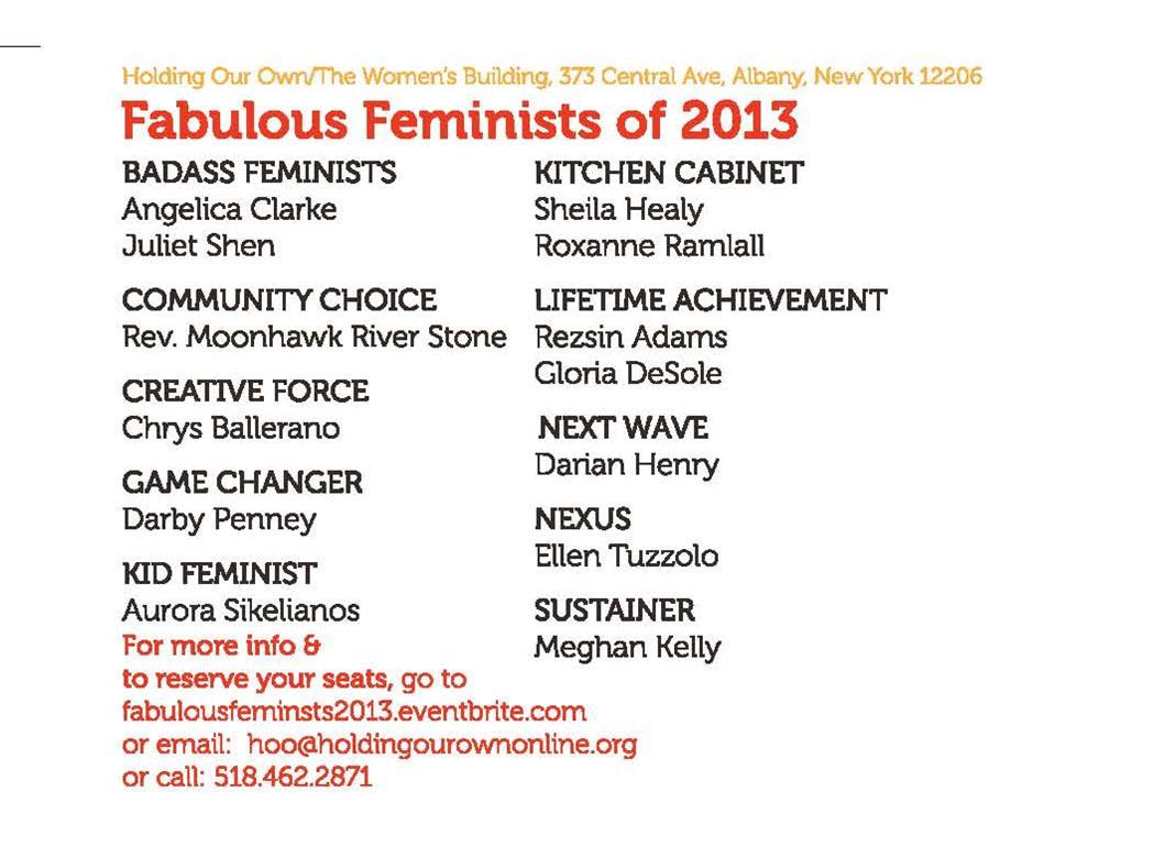 List of Fabulous Feminists of 2013