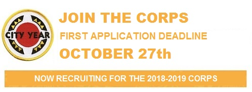 Banner of City Year's October 27th Deadline