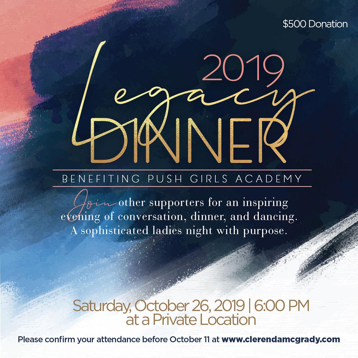 2019 PUSH Legacy Dinner