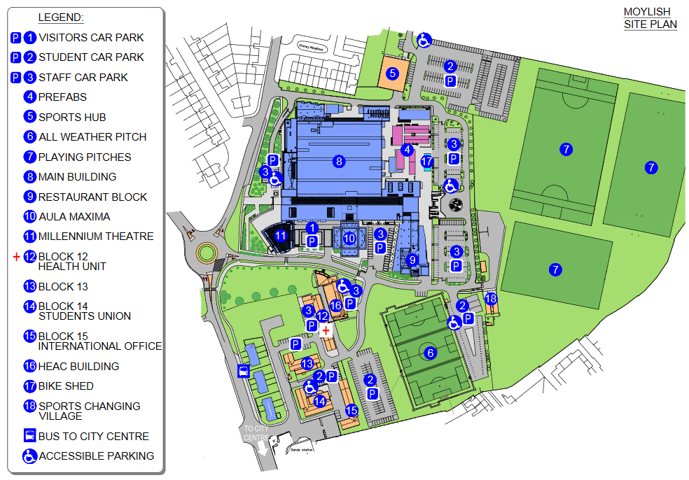 Limerck Institute of Technology Campus Map