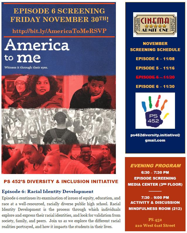 America to Me Screenings at PS 452