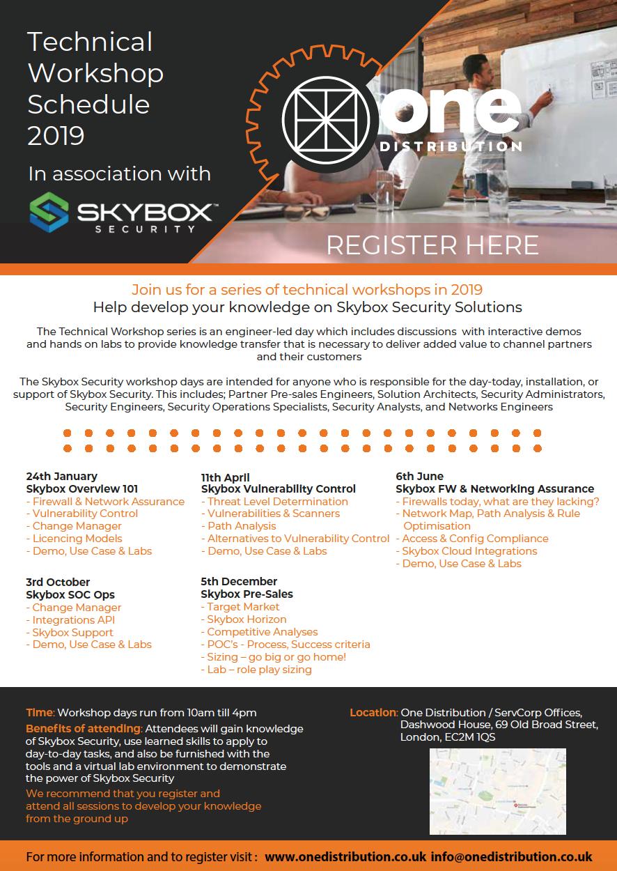 Technical workshop flyer