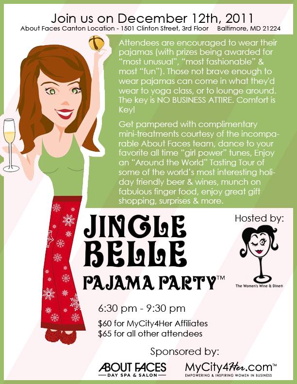Jingle Belle Pajama Party 2011 Invitation