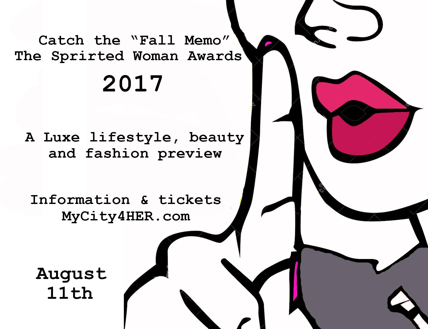 Fall Memo at Spirited Woman Awards 2017