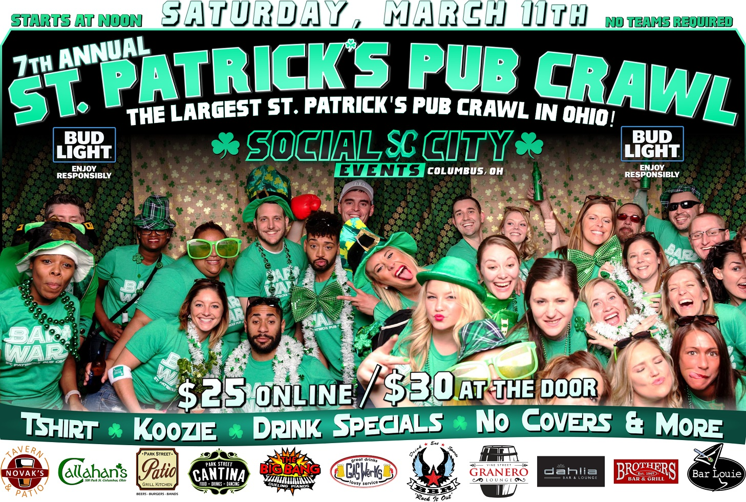 Social City Events 7th Annual St. Patrick's Pub Crawl