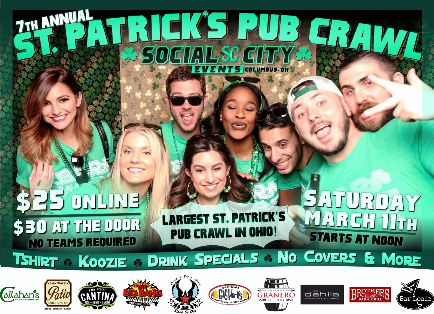 Social City Events 7th Annual St. Patrick's Pub Crawl
